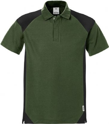 Fristads Polo Shirt 7047 PHV (Army Green/Black)